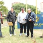 Domínguez, Korz, Gómez,  Carbone y Berazategui en el homenaje
