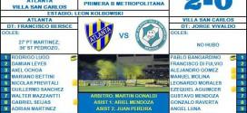 Fecha 32: Atlanta 2 – Villa San Carlos 0